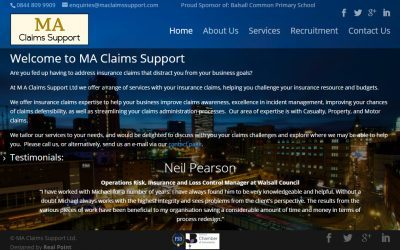Updated Website for MA Claims Support Ltd