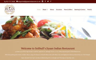 Website Launch: The Jiyaan Restaurant!